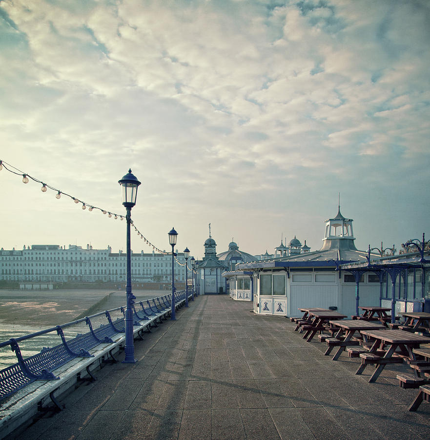 Vertical Photograph - Eastbourne Pier Promenade by Paul Grand Image