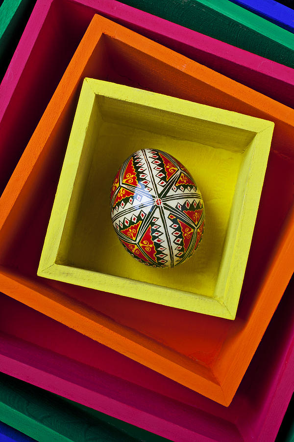 Easter Photograph - Easter Egg In Box by Garry Gay