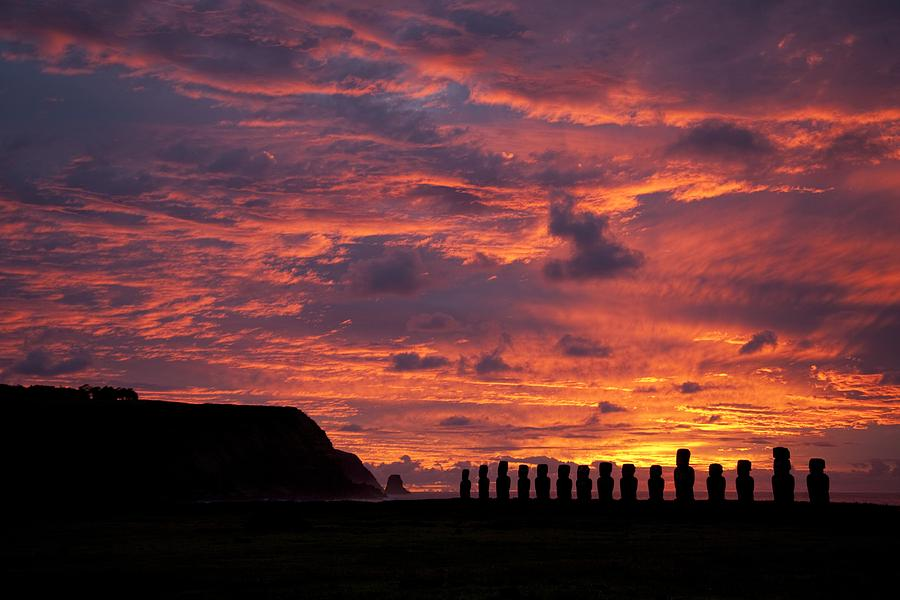 Sunset Photograph - Easter Island by Easter Island