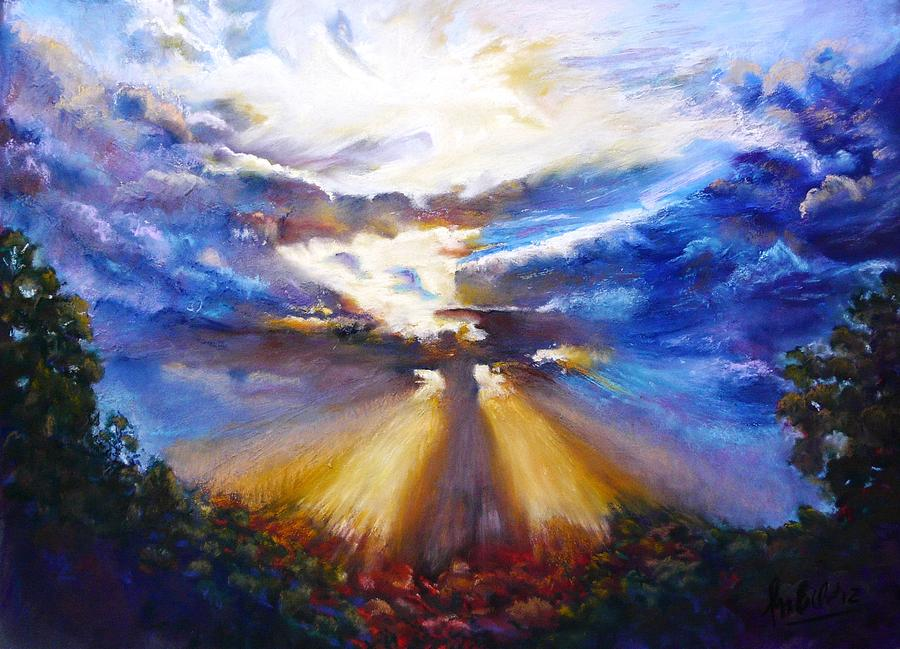 Sky Painting - Easter Sunday. Gods resurrection by Marieve Ortiz