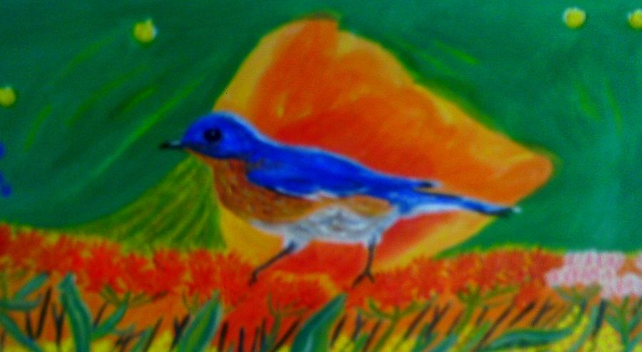 Eastern Bluebird Painting by Annette Stovall