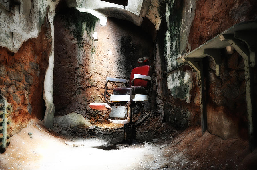 Eastern State Penitentiary - Barber's Chair Photograph - Eastern State Penitentiary - Barbers Chair by Bill Cannon