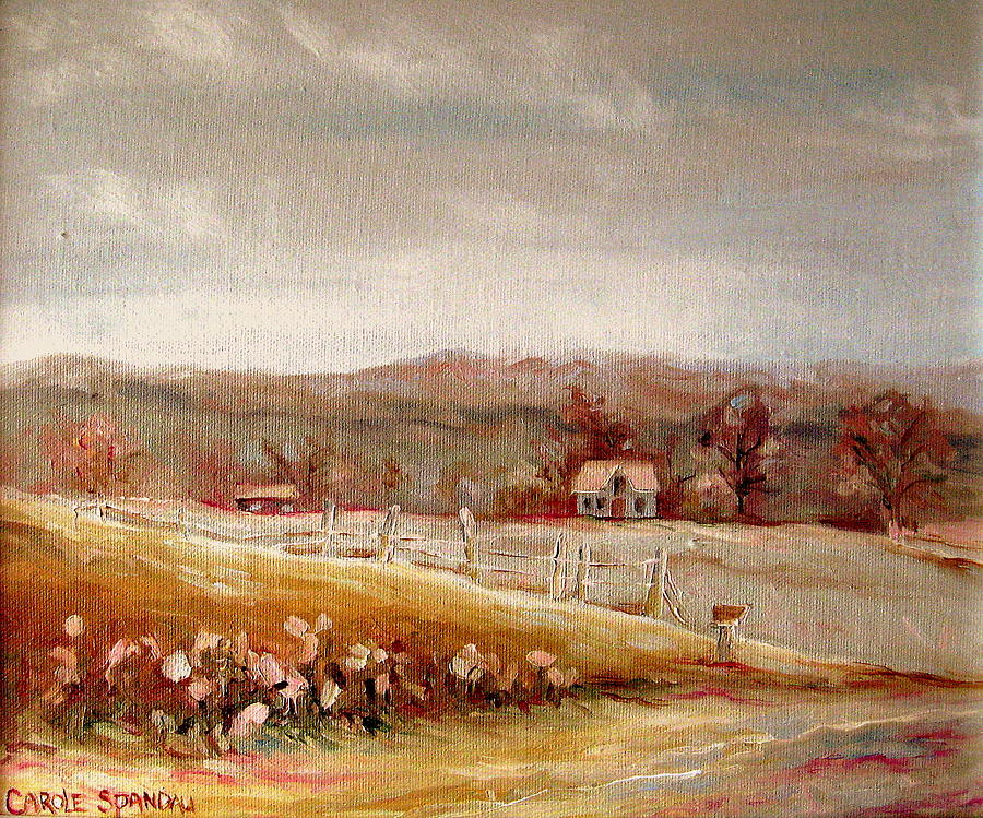 Landscape Painting - Eastern Townships Quebec Painting by Carole Spandau