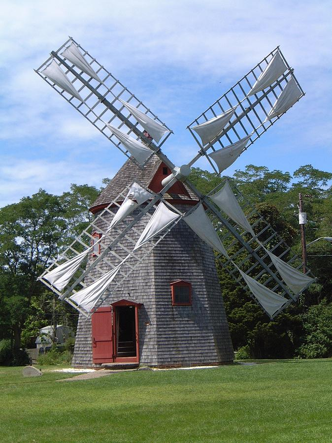 Windmill Cape Cod Part - 17: Eastham Photograph - Eastham Windmill Cape Cod Ma By Sven Migot