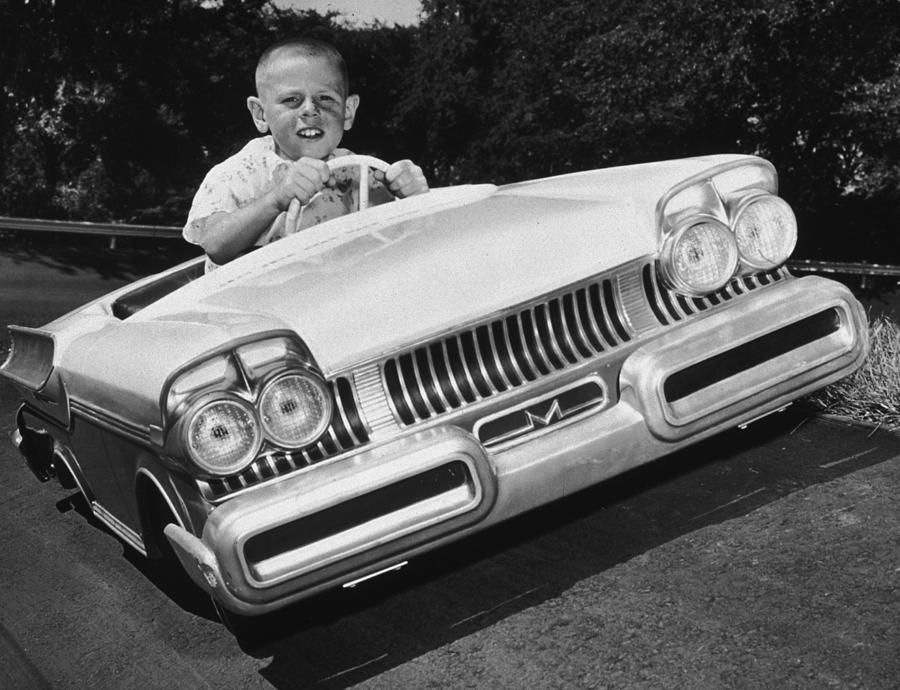 Child Photograph - Easy Driver by Archive Photos