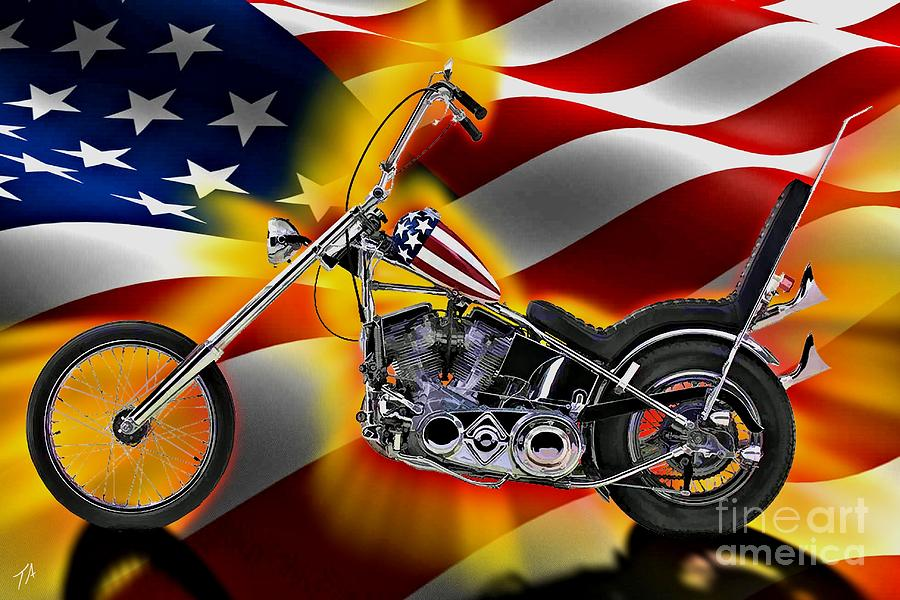 Easy Rider Digital Art By Tommy Anderson