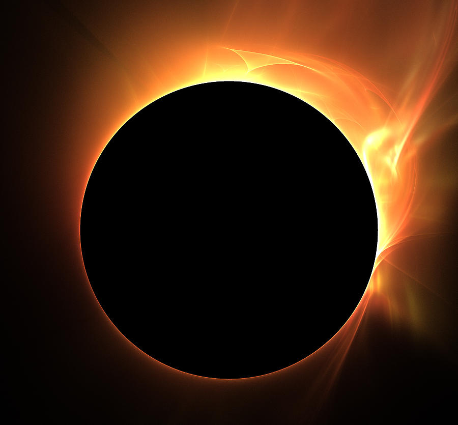 Abstract Digital Art - Eclipse by Kim French