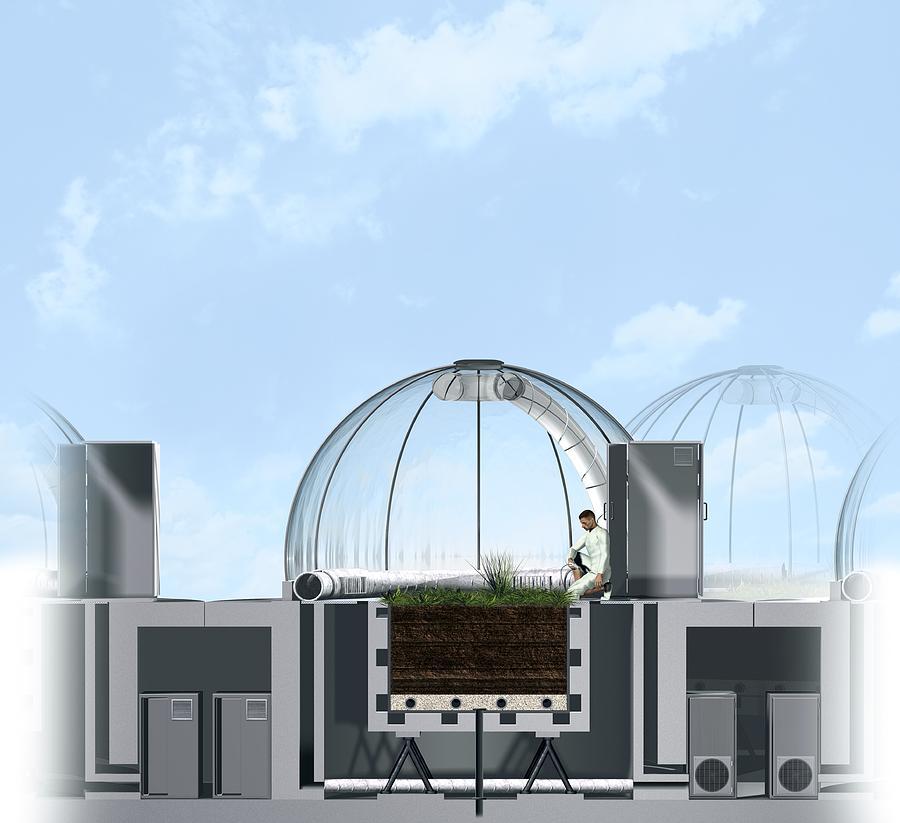 Building Photograph - Ecotron Project, Artwork by Claus Lunau