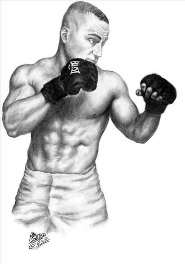 Eddie Alvarez Drawing - Eddie Alvarez - Bellator Champion by Audrey Snead