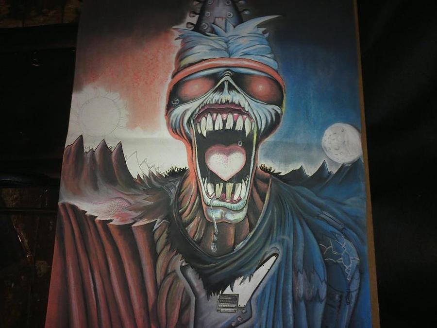 Iron Maiden Pastel - Eddie by Scott Rowlands