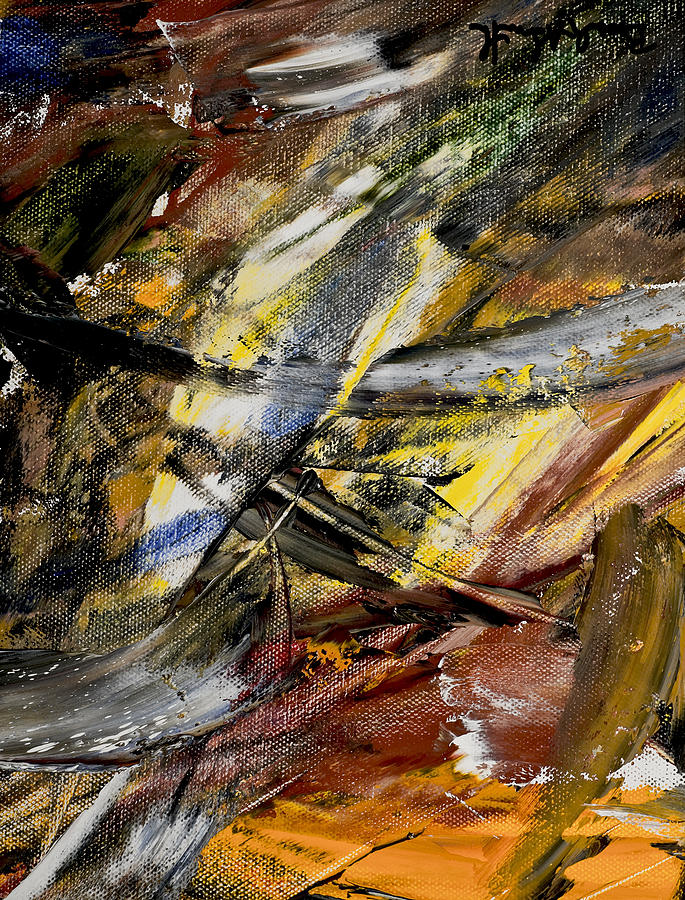 Abstract Painting - Edgartown Marsh I by Beverly Smith
