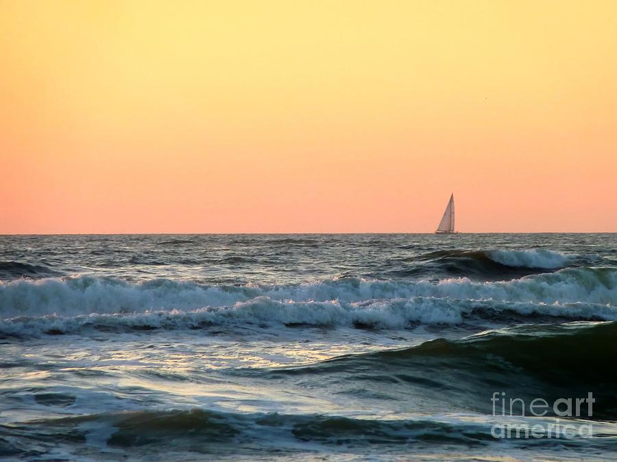 Sunset Photograph - Edge Of The Ocean by Michael Garyet