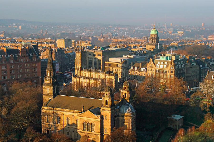 Edinburgh Photograph - Edinburgh On A Winters Day by Christine Till