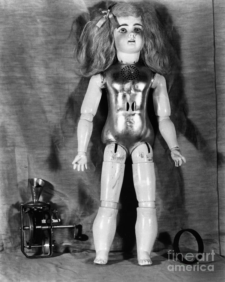 1890 Photograph - Edison: Talking Doll, C1890 by Granger