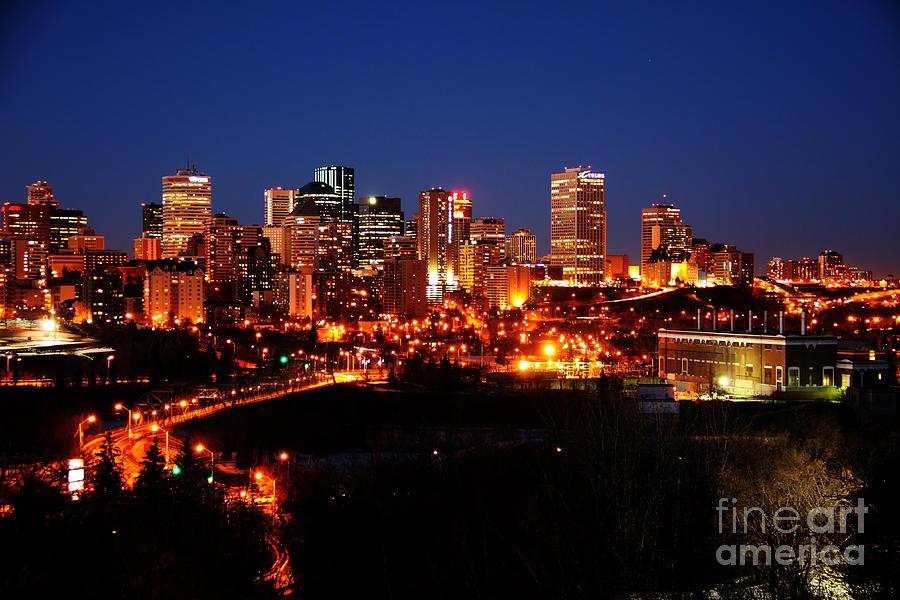 Skyline Photograph - Edmonton Skyline by Rachel Duchesne