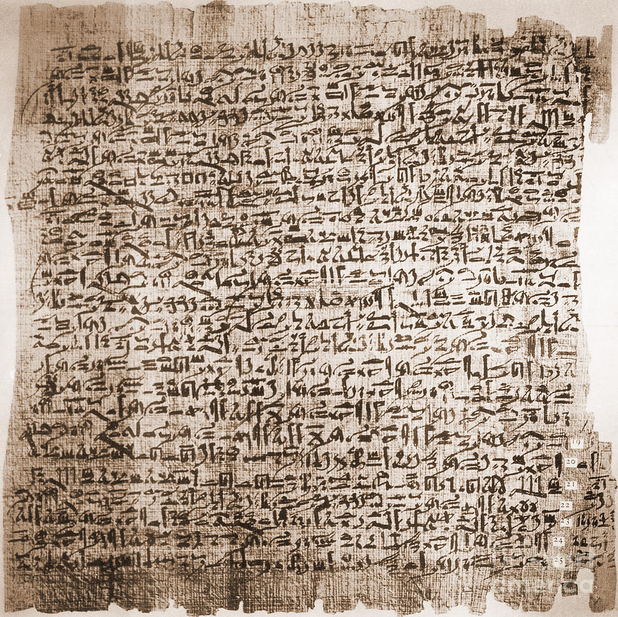 Edwin Smith Papyrus, Oldest Surgical Photograph by Science Source