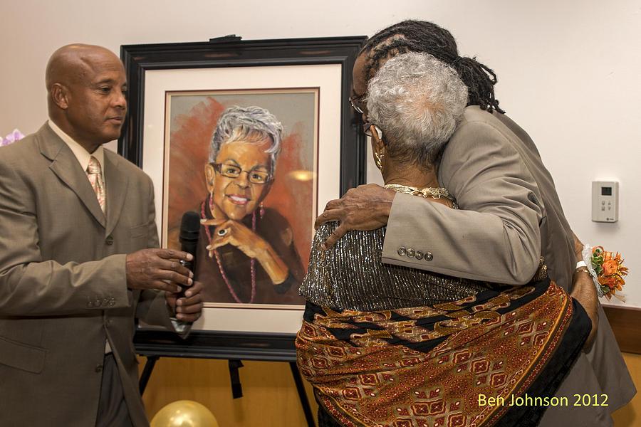Edythe Greenes 90th Birthday Celebration Painting by Leonard R Wilkinson