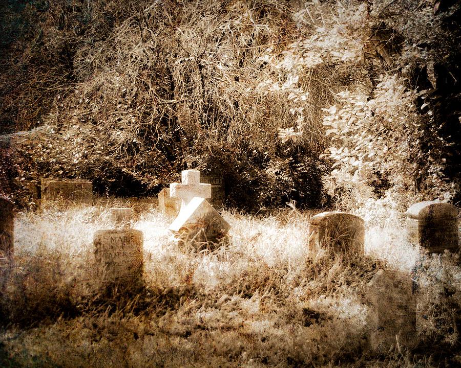 Cemetery Photograph - Eerie Cemetery by Sonja Quintero