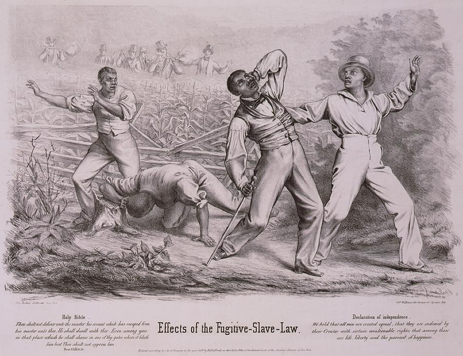 History Photograph - Effects Of The Fugitive-slave-law by Everett