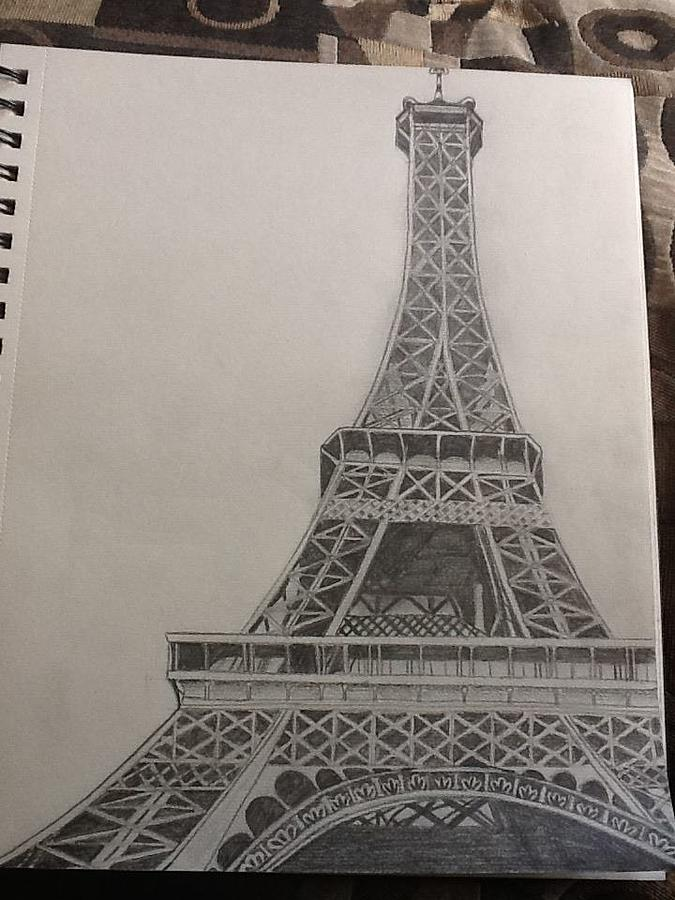 Landscape Drawing - Efile Tower by Megan Hickcox