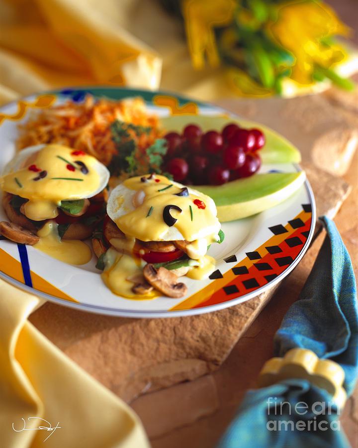 Food Photograph - Eggs Benedict Breakfast by Vance Fox