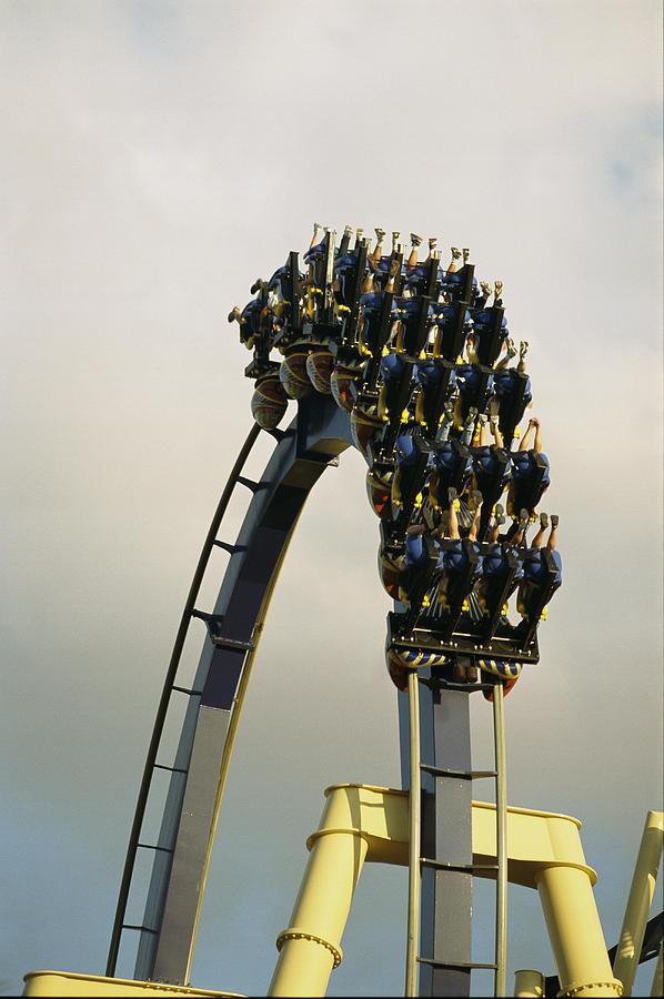 North America Photograph - Egypt-montu Rollercoaster At Busch by Richard Nowitz