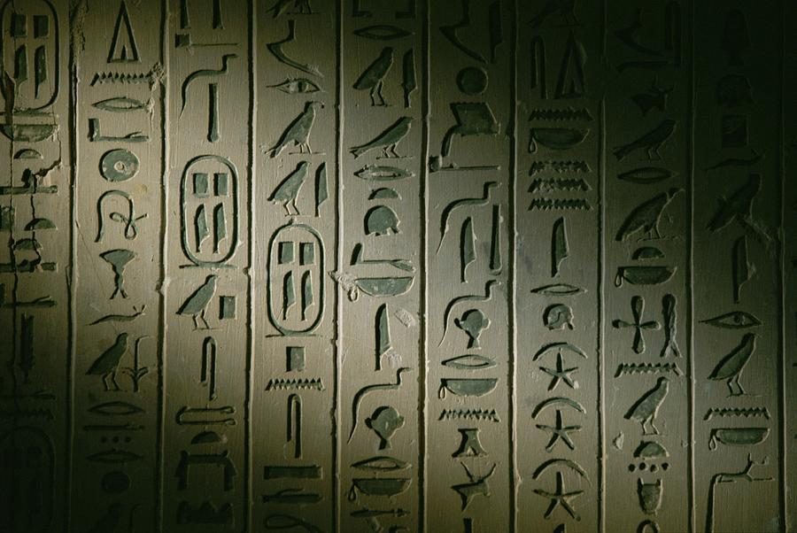 Africa Photograph - Egyptian Hieroglyphics Decorate by Kenneth Garrett