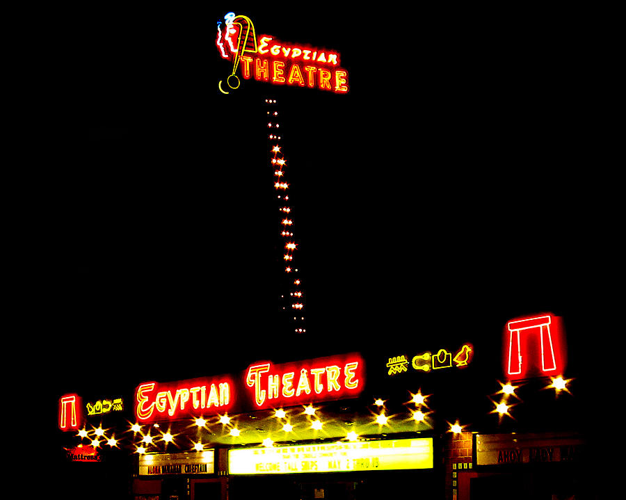 Egyptian Theatre Photograph - Egyptian Theatre In Coos Bay Oregon by Gary Rifkin