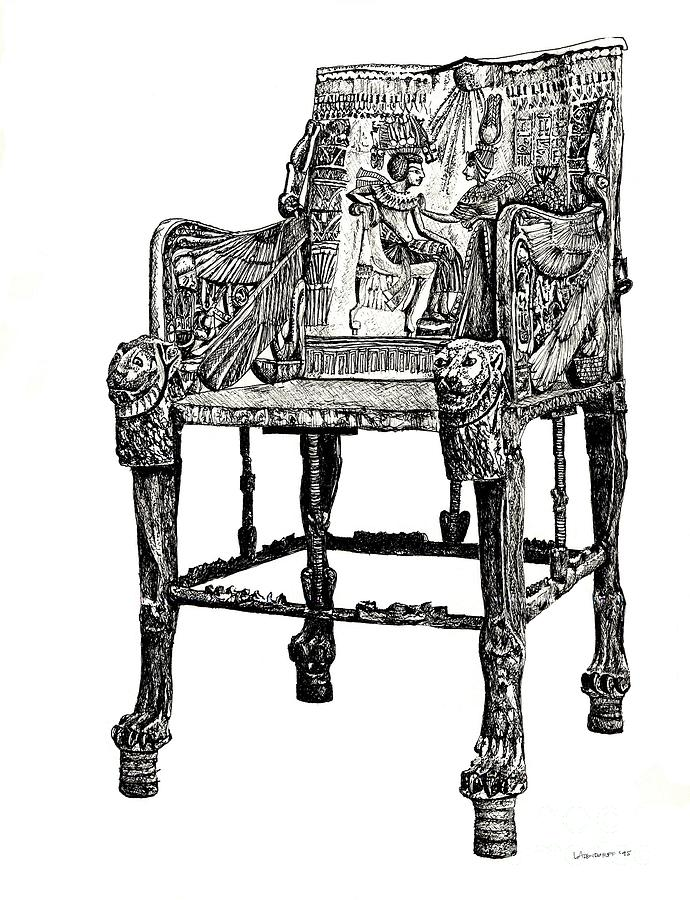 Egyptian Throne Drawing by Adendorff Design