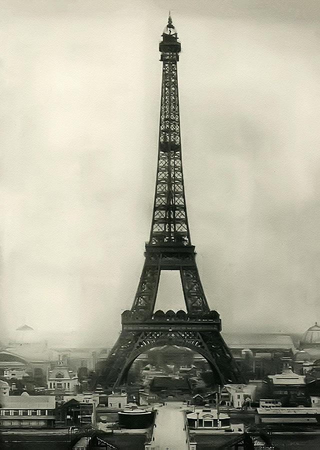 Eiffel Photograph - Eiffel Tower 1890 by Bill Cannon