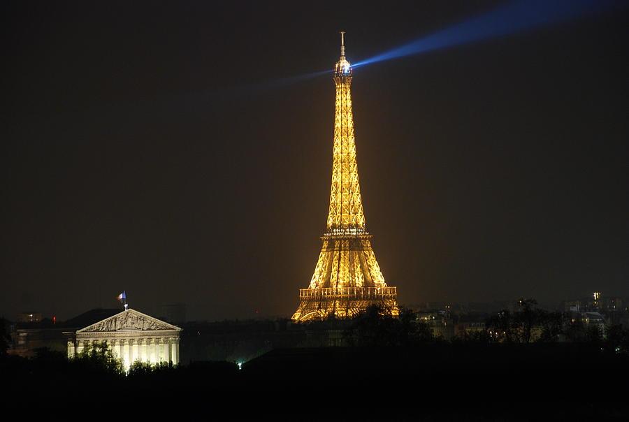 Eiffel Tower Photograph - Eiffel Tower At Night by Jennifer Ancker