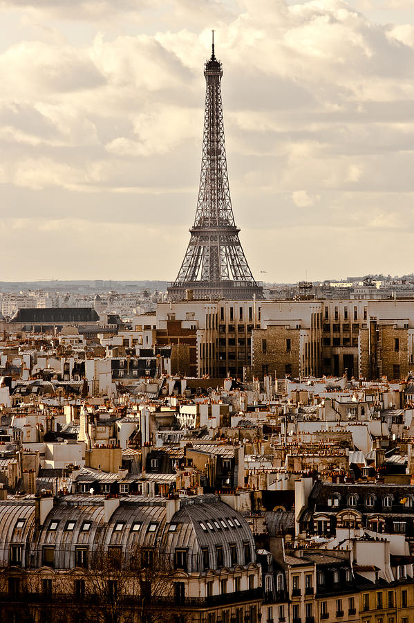 Vertical Photograph - Eiffel Tower by Guglielmo William Mangiapane