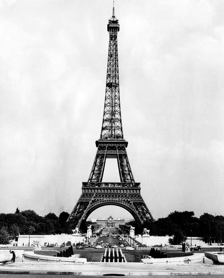 eiffel tower paris france ca 1964 photograph by everett. Black Bedroom Furniture Sets. Home Design Ideas