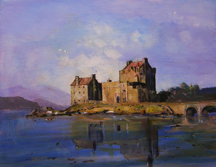 Castle Painting - Eilean Donan Castle by Peter Tarrant