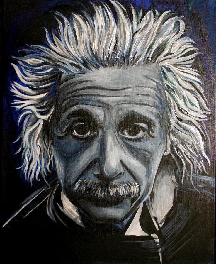 Einstein Painting - Einstein by Kate Fortin