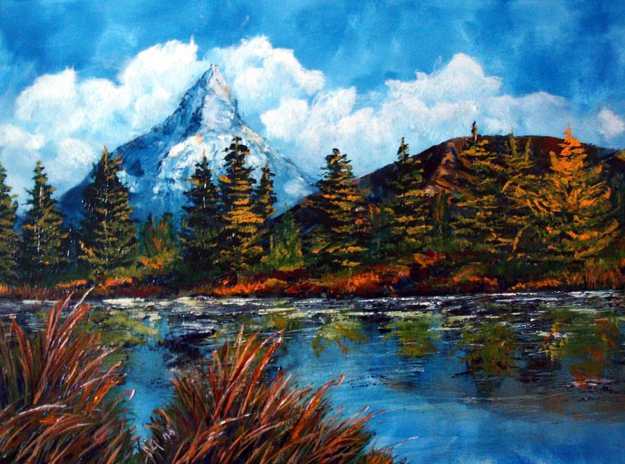 Berg Painting - Einzelkaempfer by Karin Mueller