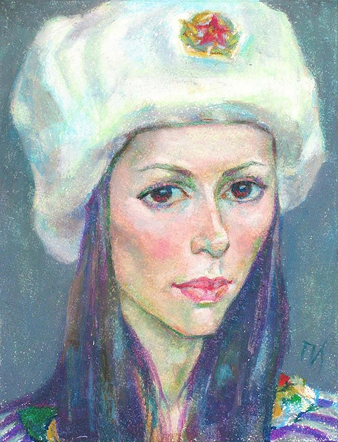 Girl Painting - Ekaterina Kindzerskaya by Leonid Petrushin