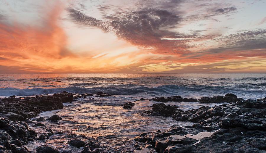 Horizontal Photograph - El Golfo, Sunset, Lanzarote, by Travelstock44 - Juergen Held
