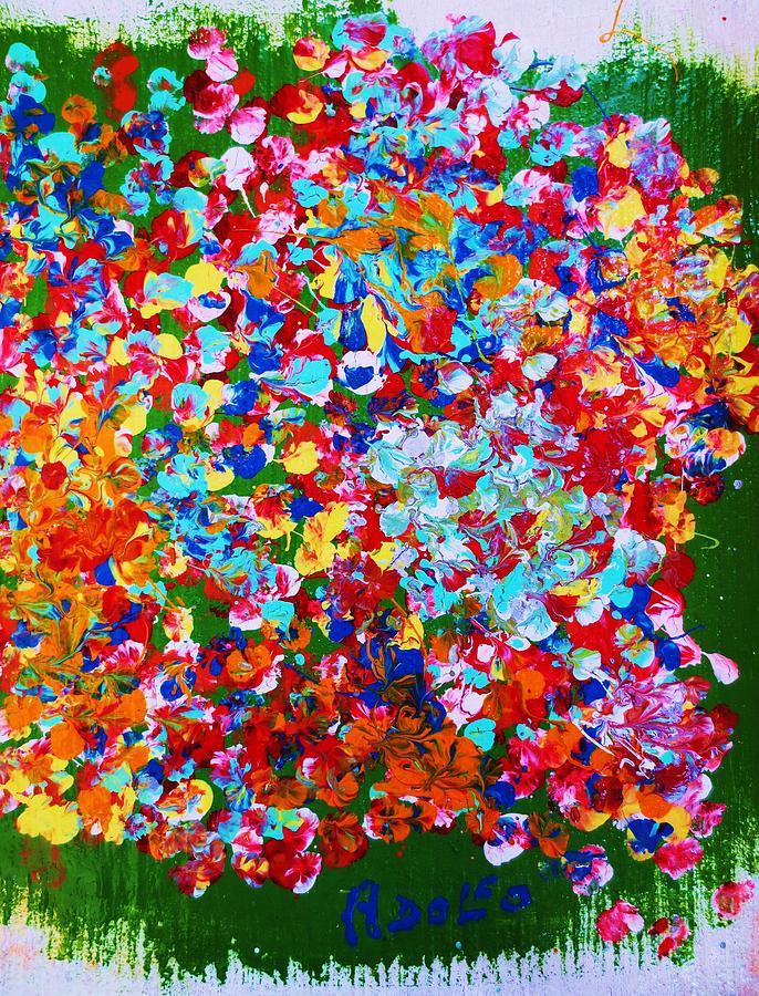 Landscape Painting - ..el Jardin De Gabo... by Adolfo hector Penas alvarado