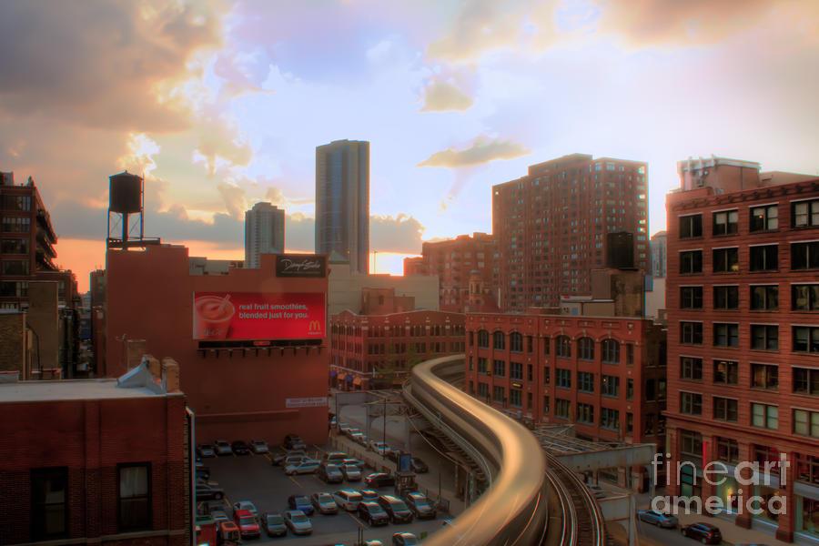 Chicago Photograph - El Landscape by Archana Doddi