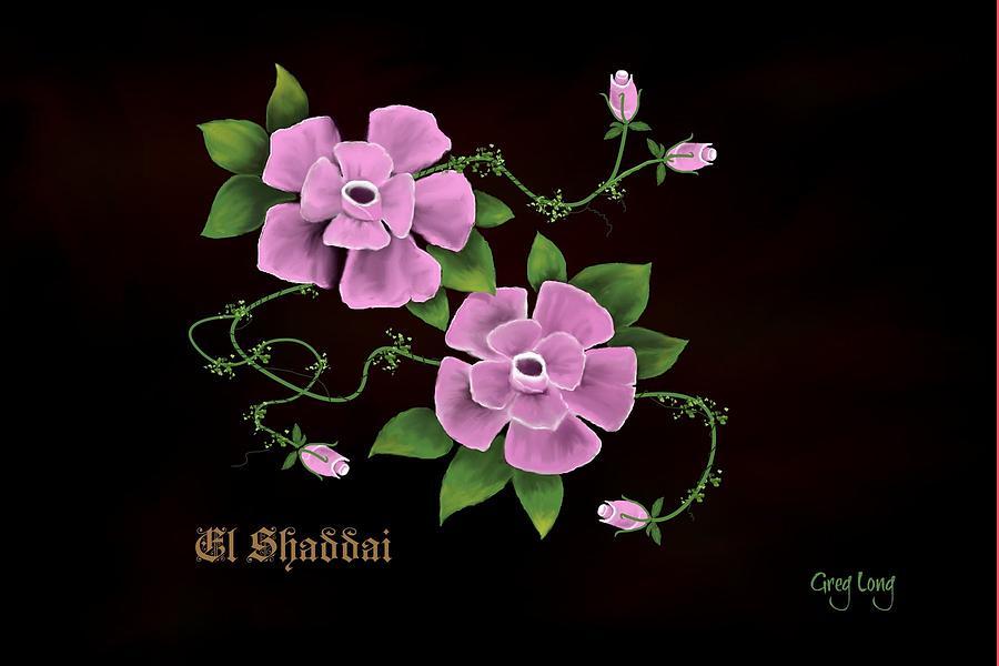 El Shaddai         The Almighty Digital Art by Greg Long