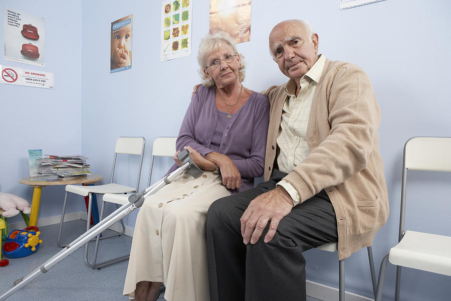 Crutches Photograph - Elderly Patients by Adam Gault