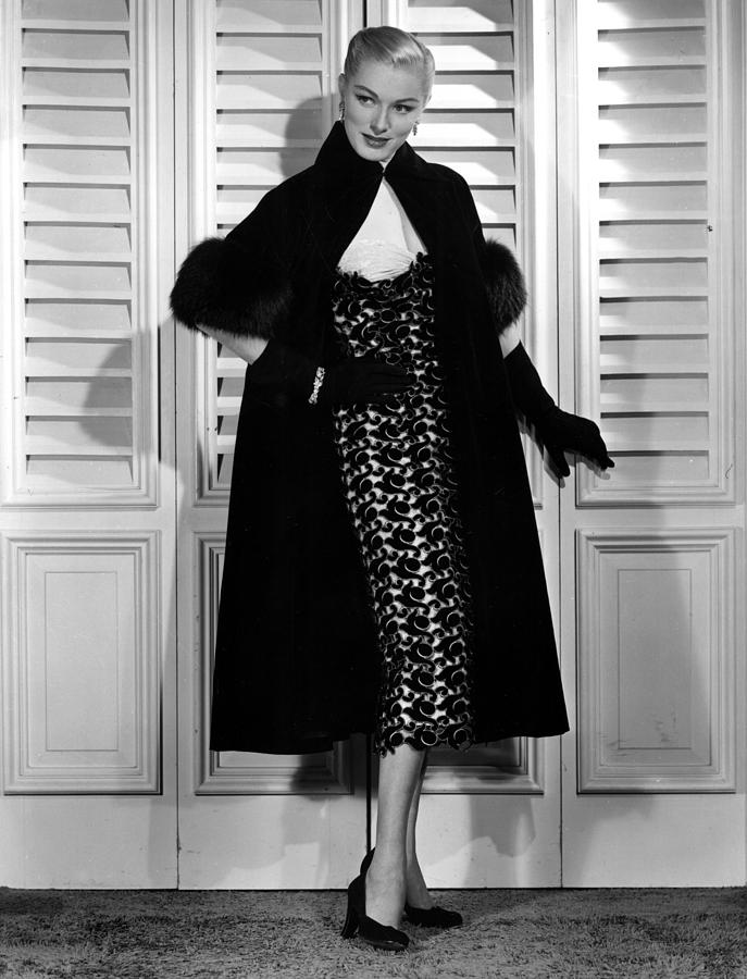 Eleanor Parker Wearing An Evening Gown Photograph by Everett