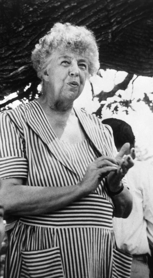 1950s Portraits Photograph - Eleanor Roosevelt 1884-1962, First Lady by Everett
