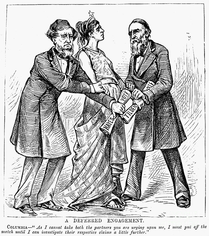 Election Cartoon, 1876 Photograph by Granger