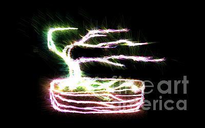 Bonsai Photograph - Electric Bonsai by EGiclee Digital Prints