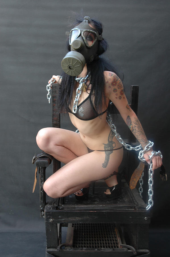 Pin-up Photograph - Electric Chair - Bound N Chained by Liezel Rubin