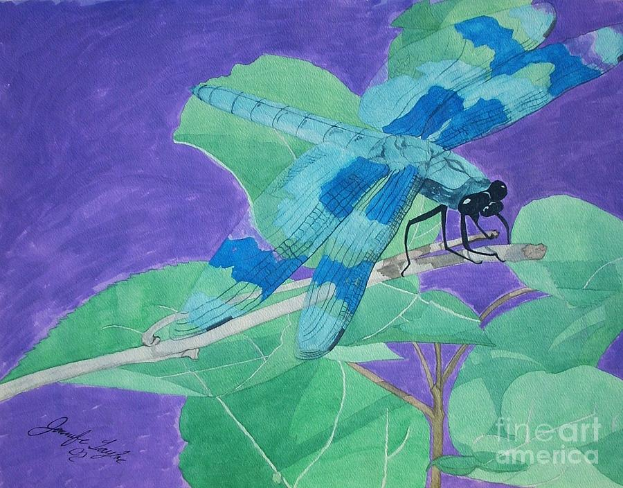 Dragonfly Painting - Electric Dragon by Jennifer Taylor Rogerson
