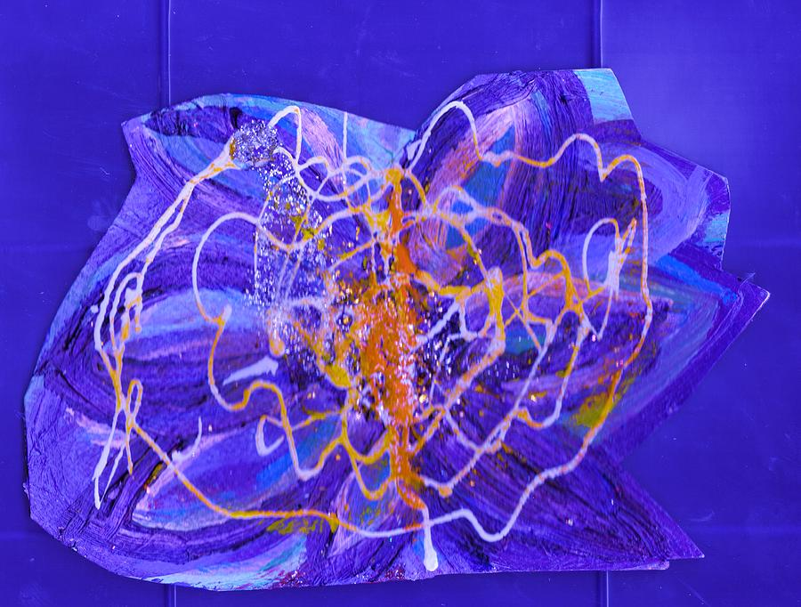 Experimental Painting - Electric Ecstasy by Anne-Elizabeth Whiteway