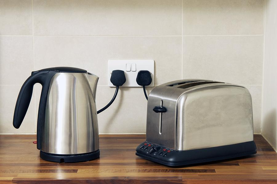 Equipment Photograph - Electric Kettle And Toaster by Johnny Greig